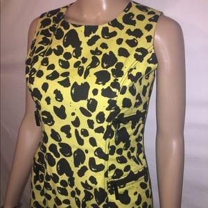 NWOT Michael Kors yellow dress with black pattern
